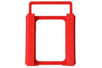 SpedCrd2.5 to 3.5 InchHard Disk Drive Mounting Bracket Adapter- Red