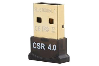 USB CSR 4.0 Dual Mode Bluetooth Adapter Dongle- Black