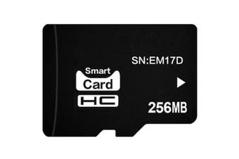 Small Speaker Micro SD Memory Card 256M- Black