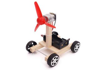 DIY Air Powered Vehicle Children Science Education Toy- Black