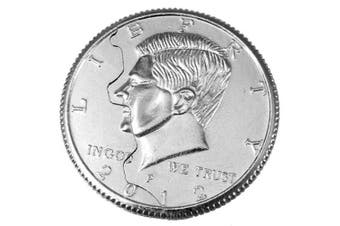 Magic Close-up Street Trick Bite Coin Restored Half Dollar illusion Toy Prop- Silver