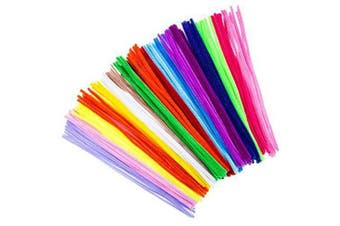 100 Pieces Pipe Cleaners Chenille Stems 6mm x 12 inch for Diy Art Craft- Multi-A