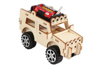 Creative Technology Gizmo DIY Electric Car Child Science Experimental Toy Set- Blanched Almond