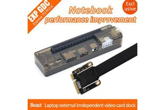EXP GDC Beast Laptop External Independent Video Card Dock + Mini PCI-E Cable for Apple / DELL / HP / Lenovo / Asus / Hasee- Black and Grey WITHOUT POWER ADAPTER