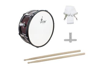 SLADE 14 inch Small Snare Drum with Stick Strap Wrench Rust-resistant Anti-fade Aluminum Alloy Drum- Red Wine China