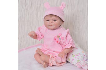 KEIUMI 17 Inch 42cm Reborn Baby Doll Toy Soft Silicone Birthday Christmas Toy Gift for Children- Pink China