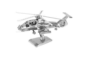 Creative Metal 3D Helicopter Jigsaw Puzzle- Silver
