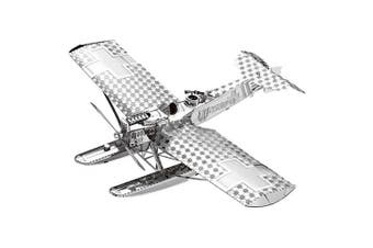 3D Metal Fighter Model Fit for Children- Silver