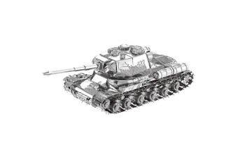 3D Metal Jigsaw Heavy Tank Puzzle Model Toy- Silver
