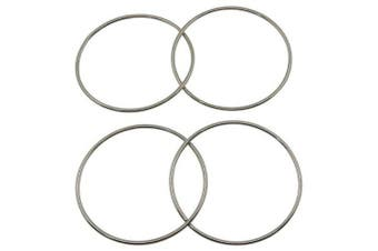4PCS Close Range Magic Props China Linking Ring- Silver