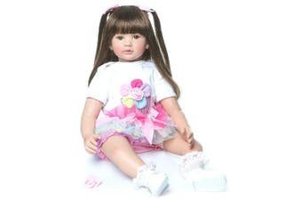 NPK COLLECTION Newborn Reborn Silicone Cute Soft Girl Princess Child Fashion Baby Rebirth Doll- White
