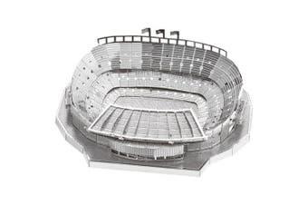 3D Metal Football Field Model Fit for Children- Silver
