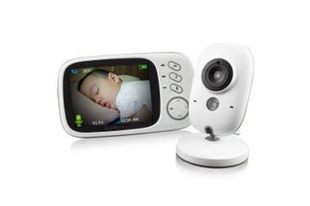VB603 2.4G Video Baby Monitor Security 3.2 inch Mini Camera- White EU Plug