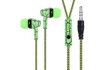 A11 In-ear Stereo Earphones with Mic- Black and Green