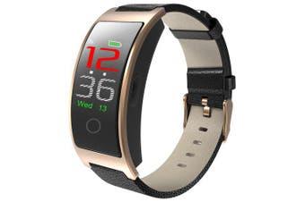 CK11C Color Screen Smart Bracelet Blood Pressure Heart Rate Water-resistant- Champagne Gold