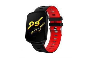 Waterproof Heart Rate Monitor BloodPressure Sleep Detection Smart Watch- Red China