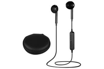 ANDE S6 Stereo Bluetooth Headphones with Storage Bag- Black