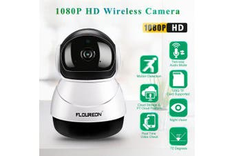FLOUREON 1080P HD H.264 Wifi 2.0 Megapixel Wireless CCTV Security IP Camera SD Slot US- Warm White