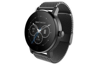 SMA - 09 Bluetooth Smartwatch with Remote Camera- Black Steel Band