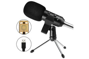 FIFINE K058 USB Stereo Microphone for PC Laptop- Golden