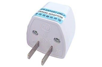 Arrival US/AU/UK/EU Plug to US Plug Home Travel Adapter- White