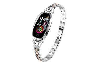 Female Fashion Smart Watch Blood Pressure Heart Rate Sleep Monitoring- Light Gray
