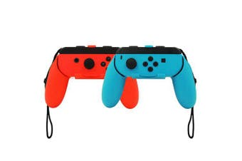 2 Pack Wear-Resistant Joy Con Handle Grips Accessory Kit for Nintendo Switch Joy-Con Grip Controller- Colormix