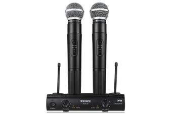 WEISRE PGX58 VHF Dual Wireless Microphone- Black