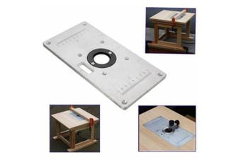 Aluminum Wood Router Insert Plate- Silver