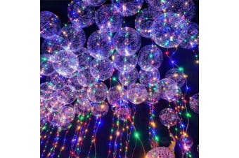 Christmas Party Bobo Balloons with LED String Light 3pcs- Transparent