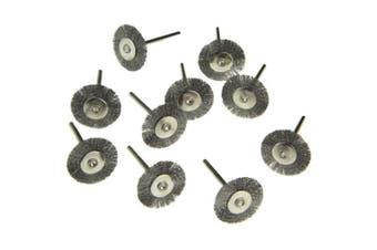 10PCS Steel Wire Wheel Head Polishing Brush Grinder Rotary Tool- Smoky Gray