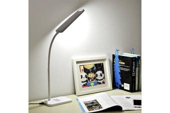 BRELONG  LED Table Lamp Dimming Study Reading Lamp USB Output Charging- White
