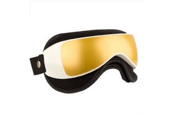 Eye Massager Glasses With MusicAir Pressure and Vibration Infrared Heater Eyes Care Device- Gold China