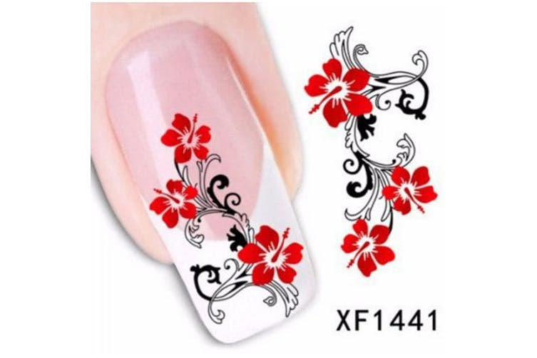 Colorful Stylish Art Sticker Tips Decoration Manicure Nail Paste- #21