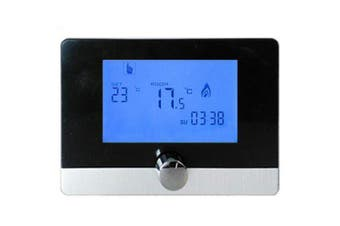 HY04BW LCD Digital Temperature Controller Wall-hanging Smart Thermostat 5A- White