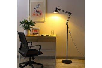 AC85 265V Folding Floor Lamp with 4W Spotlight- Black