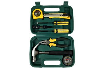 CREST 011009A Household Tool Set of 9pcs- Medium Sea Green