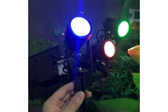 ESGL - 04 Solar Spotlights Casting Lawn Outdoor Waterproof Street Landscape Light 3pcs- Multi-A