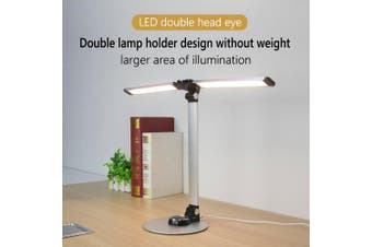 LAOPAO NEW Led Reading Desk Lamp With Dual lamp 56PCS Bules Stepless Dimming Eye Protect- White