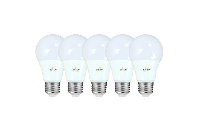 EXUP 5PCS 9W A65 E27 Globe Bulb 5730SMD AC 220-240v- White 6000-6500K