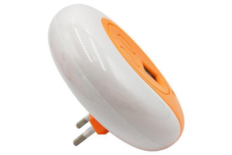 BRELONG XC - 016 Light-sensor Night Light / Charger- Orange