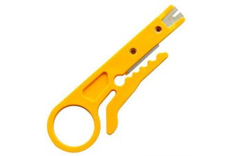 gocomma Simple Utility Small Card Cutter Wire Stripping Knife- Yellow