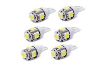 T10 W5W 158 194 2.5W 5050 5SMD LED Bulb Car Epistar LED Clearance Light 6pcs- White 6PCS