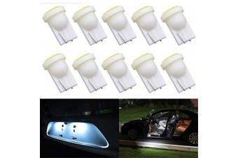 T10 COB LED Car Clearance Light Bulbs 10pcs- White
