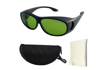 1064NM Laser Engraving Goggles High Power High-end Glasses- Fern Green