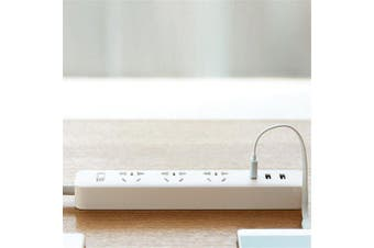For XiaoMi Power Strip Socket USB Port Fast Charging Power Converter Adapter- White