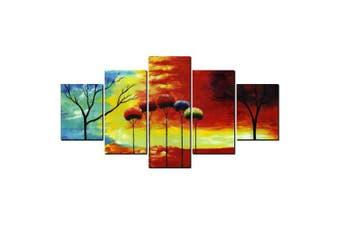 YISHIYUAN 5 Pcs HD Inkjet Paints Abstract Color Small Fresh Decorative Painting- Multi 1pc x 12 x 31,2pcs x 12 x 16,2pcs x 12 x 24 inch( No Frame )
