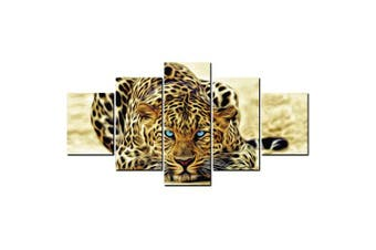 YISHIYUAN 5 Pcs HD Inkjet Paints Abstract Tiger Animal Decorative Painting- Multi 1pc x 12 x 31,2pcs x 12 x 16,2pcs x 12 x 24 inch( No Frame )