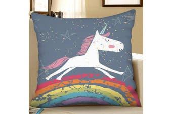 Digital Print Unicorn Square Sofa Cushion Pillow Case- Multi W18 x L18 inch