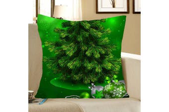 Green Christmas Tree Pattern Decorative Pillow Case- Green W12 inch * L20 inch